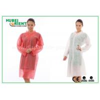Buy cheap PP Disposable Lab Coats , custom disposable lab gowns Protective with Snap from wholesalers