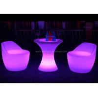 Buy cheap 60cm Height Small Poseur LED Bar Table And Chair With Sturdy Metal Base And Stand from wholesalers