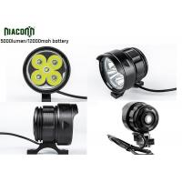 Buy cheap 12000mah Rechargeable Cycle Led Light , 50W Bike Front Led Light from wholesalers