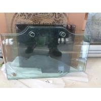 China Ultra clear , Grey , Green tempered glass panel with hole and cuts on sale