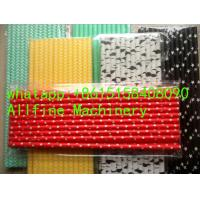 Buy cheap flower star heart daisy weave bunting checkered diamond patterned fluorescent metallic bendy paper straw extrude machine from wholesalers