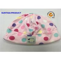 Buy cheap Customized Cute Baby Boy Hats , Dots Print Cotton Interlock Newborn Baby Girl Hats from wholesalers