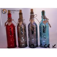 Wholesale Electroplate Finish Wine Bottle Led Lights With Paint Color / Words from china suppliers