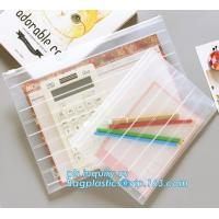 Buy cheap Fashion Colored Mesh Office Stationery A4 Clear Folder with Zipper, Promotional Customize Logo A4 A5 pvc zipper document from wholesalers