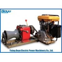 230kg 30KN Pull Force 1 or 2 Gear Stringing Equipment diesel power winch Manufactures