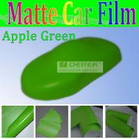 Buy cheap Matte finished decal apple green wholesale heat transfer vinyl car stickers from wholesalers