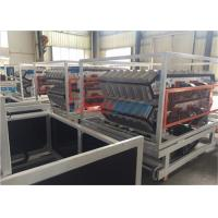 Plastic PVC Tile Twin Extruder Machine / Plastic Extruding Equipment 400kgh