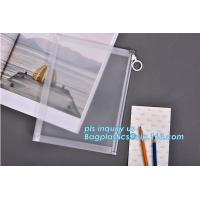 Buy cheap Custom transparent pp slider bag with air hole, writable zip lock bags with white panel, slider bags with zipper lock from wholesalers
