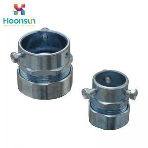 Wholesale Hose Clamp Type Flexible Conduit Connector / Zinc Die Casting Emt Connectors from china suppliers