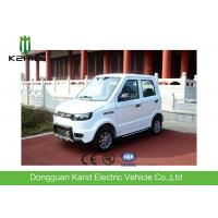Buy cheap Battery Powered  Electric City Car With 4 Seats All Electric Vehicles White Color from wholesalers