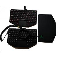 Buy cheap 89 keys IP65 military keyboard with sealed touchpad and coiled USB for mobile vehicle from wholesalers