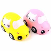 China Boys Funny Gift Stress Relieve Kitty Car Educational PU Foam Slow Rising Squishy Toys on sale
