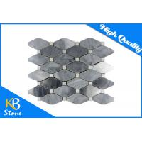 Buy cheap Italian Bardiglio Long Hexagon Marble Mosaic Tiles / Stone Mosaic Bathroom Tile with White Dots from wholesalers