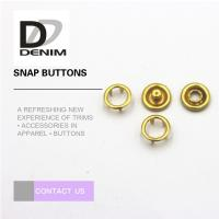 Buy cheap Fancy Gold Brass Bulk Clothing Buttons , 16L Prong Snap Buttons For Clothing from wholesalers