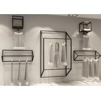 Buy cheap Customized Size Clothing Display Rack / Garment Wall Display Small And Light Style from wholesalers