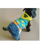 Lovely pet jeans overall dog clothes boxers fall and winter clothes outfit teddy bear Manufactures