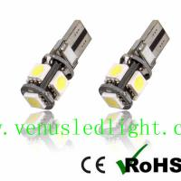 Buy cheap White LED License Plate Light Bulbs Error Free Canbus for benz BMW T10 5050smd 5pcs from wholesalers