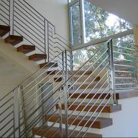 Wholesale 2018 round handrail and post stainless steel rod railing for staircase/balcony/terrace from china suppliers