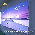 Buy cheap Super Brightness Frameless Advertising Sign Borderless Light Box for Advertising from wholesalers