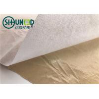 Wholesale Eco Friendly Fusible Non Woven Interlining Fabric With Yellow Adhesive Release Paper from china suppliers