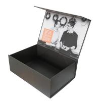Wholesale Gold Orange Foil Stamping Full Color Printing Magnetic Folding Box With Sleeve from china suppliers