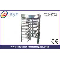 Buy cheap RFID Single Full Height Turnstile Access Control , security Mechanical Turnstile , low noise from wholesalers