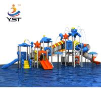 Buy cheap Rose Wood / LLDPE Water Park Playground Equipment With Tunnel / Handrail from wholesalers