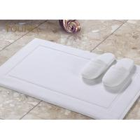 Buy cheap Sanitized Logo Hotel Non Slip Bath Mat / White Bathroom Floor Mats from wholesalers