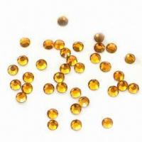 Buy cheap MC Hot Fix Rhinestones with Round Shape, Different Sizes are Available, Small Orders Acceptable from wholesalers