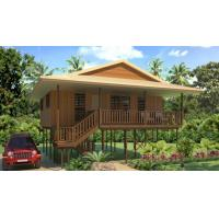 Wholesale Hot-Sale Prefab Light Steel Structure  Holidays Thailand Wooden House Bungalow With 3 Bedrooms from china suppliers