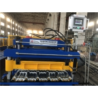 Buy cheap G550 PPGI Steel Metal Roofing Glazed Corrugated Tile Roofing Sheet Cold Roll Forming Making Machine from wholesalers