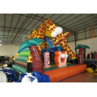 Buy cheap Lovely inflatable giraffe combo Palm tree inflatable bouncy for kids inflatable mini jumping from wholesalers