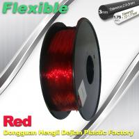 Wholesale Professional Eco Friendly Flexible( TPU )  Red 3D Printer Filament 1.75mm from china suppliers