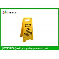 Buy cheap Yellow Plastic Caution Sign Board / Portable Sign Stands Eco Friendly 62x30cm from wholesalers