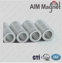 China N42 Nickel D25xd6.35x6.35mm ring neodymium magnet on sale
