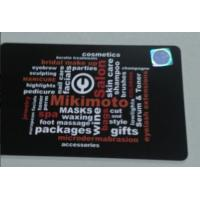 China Matte Frosted PVC Member Card With Hot-stamping Hologram Sticker master card on sale