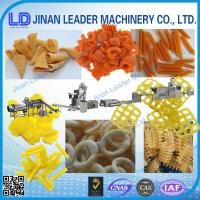 China Small scale screw shell chips 3D pellet extruding and frying process line on sale