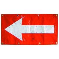 Flashing LED Chevron Traffic Arrow Boards Mat Directional Warning Flag TAB053