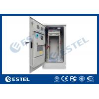 Air Conditioner Cooling Outdoor Telecom Cabinet 19 Inch Rack Enclosures IP55, Double Wall Galvanized Steel Manufactures