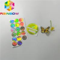 Buy cheap Adhesive Shrink Sleeve Printing Custom Reflection Rainbow Holographic Stickers Label from wholesalers