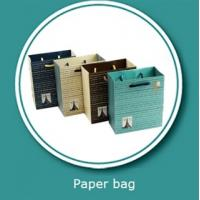 Buy cheap Matte lamination paper shopping bags gift paper bag with handle design from wholesalers