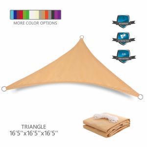 Wholesale Custom Triangle Sun Shade Canopy Sail Waterproof PU Coated Finishing from china suppliers