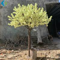 Wholesale Yellow Fake Sakura Tree For Restaurant Decoration , Artificial Cherry Blossom Tree from china suppliers
