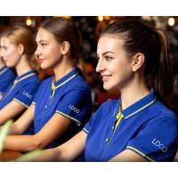 Buy cheap Universal Work Uniform Polo Shirts Oem Classic Cut Unbanded Cuffs Comfortable from wholesalers