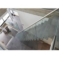 Buy cheap Glass Balustrade Stainless Steel Standoff Glass Clamp Stair Railing With Modern Design from wholesalers