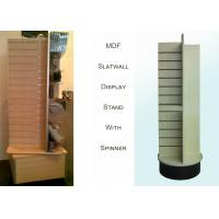 Buy cheap 4 Way MDF Rotating Wooden Retail Display Stands With 4 Slat Spinner Panels from wholesalers
