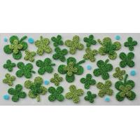 Buy cheap Luckly Four Leaf Clover 3D Glitter EVA Stickers for Wall Non-toxic from wholesalers