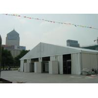 18m Wide Clear Span Aluminum Tent Frame , White Event Tent With Air Condition System