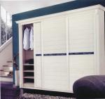 Buy cheap Modern Customized White Wardrobe Sliding Door, 6063 Aluminum Profile Sliding Closet Door from wholesalers