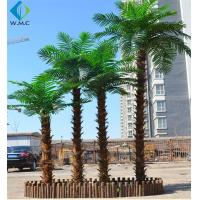 Wholesale Customizable Size Fake Coconut Tree , Large Faux Palm Tree For Hotel Decoration from china suppliers